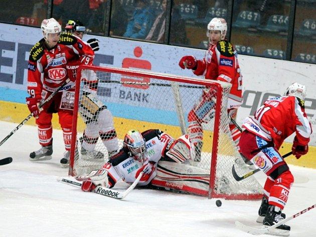 Orli prohráli s Klagenfurtem 3:4 v prodloužení.