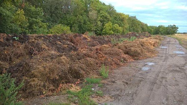 Skládka bioodpadu vHrušovanech nad Jevišovkou budí vášně.