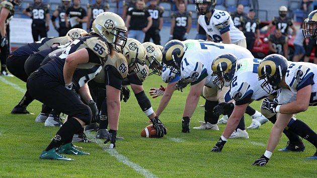 Semifinále třetí rakouské ligy amerického fotbalu mezi Znojmo Knights a Gmunder Rams