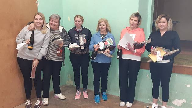 Skaličtí pořádali turnaj ve stolním tenise. Vyhráli jej Vančurová a Rábl