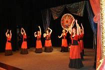 Přehlídka orientálních tanců ve Znojmě.