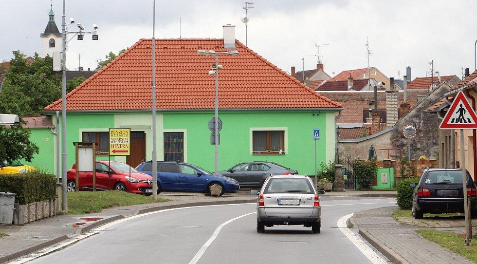 Připravované úsekové měření v Kuchařovicích u Znojma.