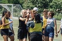 Veronika Krčmářová spolu s dalšími čtyřmi studenty z Česka trénovala hlavně fotbalový leadesrhip.