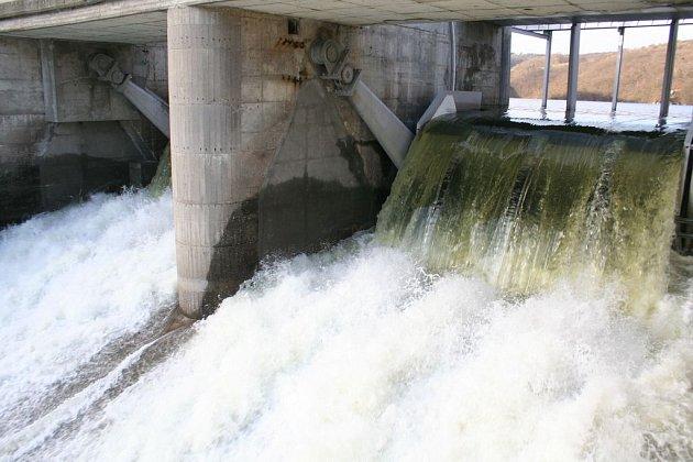 Znojemská přehrada.