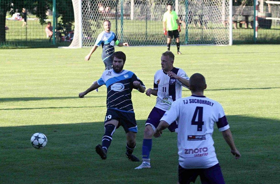 Fotbalisté Suchohrdel (bílo-fialoví) skončili v rámci Okresního poháru na čtvrtém místě.