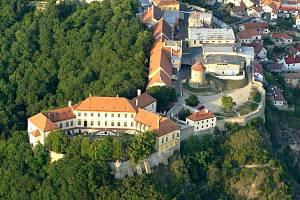 Letecký pohled na znojemský hrad. Foto: archiv znojemské radnice