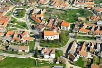 Letecký snímek Mašovice