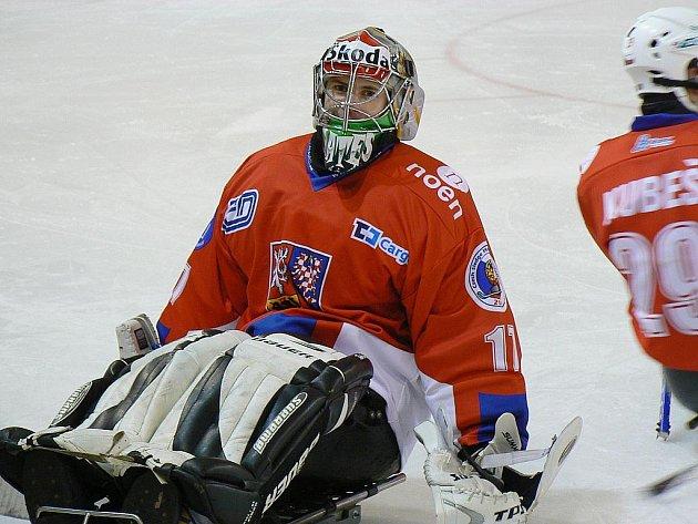 Brankář Jan Matoušek.