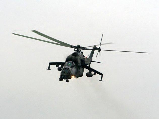 Přes Znojemsko přelétával bitevní vrtulník