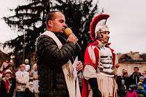Jaroslavice přivítaly sv. Martina, hosté si připili mladým vínem. Foto: Martina Mühlberger