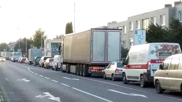 Dopravní situace ve Znojmě. Ilustrační foto.