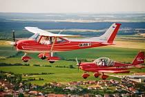 Ultralehké letouny Skylane a Eurostar.