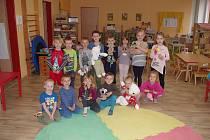 Děti z MŠ Pražská Znojmo, třída Ježečci.