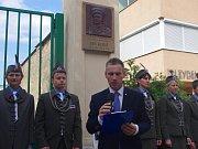 Sto páté výročí narození výsadkáře a válečného hrdiny Jana Kubiše si připomněli lidé ve Znojmě. Vzpomínku zahájil jeden z organizátorů Marek Venuta.
