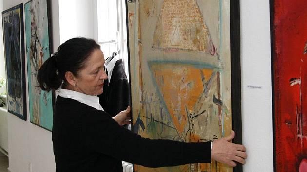 Výstava obrazů v galerii Knížecího domu v Moravském Krumlově