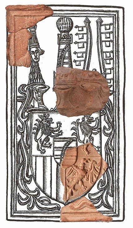 Rekonstrukce erbu Wettinů.