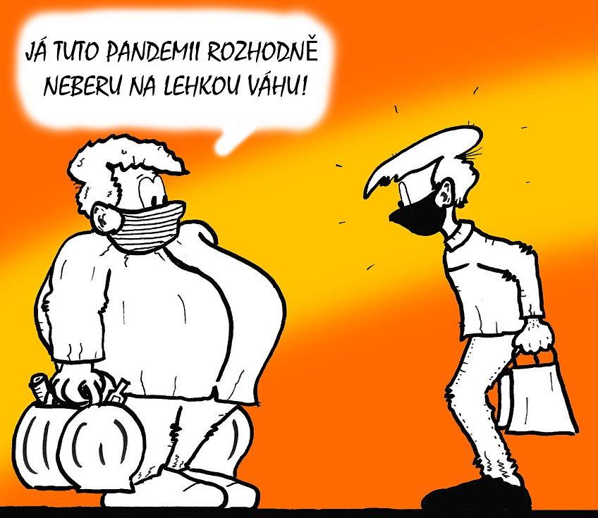 Kreslíř Bořivoj Švéda čelí nouzovému stavu humorem. Sledováním každodenních situací a jejich gradováním vznikla série vtipů glosujících koronavirovou pandemii. Podívejte se, jak se mu povedly.