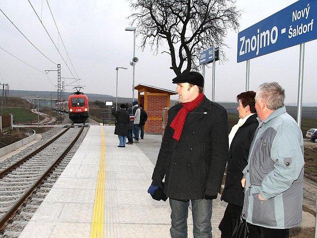 Vlakové spojení Znojma s Rakouskem. Ilustrační fotografie.