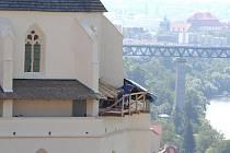 Opravy kaple svatého Václava se blíží ke konci.