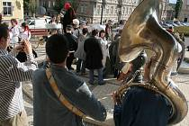 Slavnostní průvod znojemského hudebního festivalu.