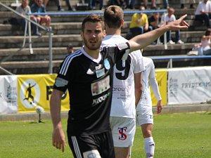 Útočník znojemských fotbalistů Jakub Teplý.