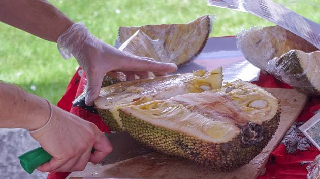 Milovníky exotického ovoce lákal ve Znojmě třetí africký trh. Přilákal stovky návštěvníků.