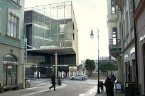 Jedna z možných podob zrekonstruovaného obchodního domu Andy v České Lípě. Své by si k ní měli v rámci veřejných debat říct i samotní obyvatelé města.