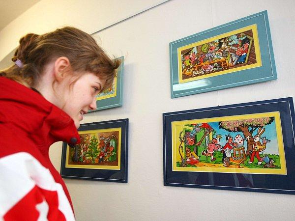 Výstavu Čtyřlístek vilustracích Jaroslava Němečka nejen pro film můžete navštívit vMuzeu Čtyřlístek vDoksech do 24.února.