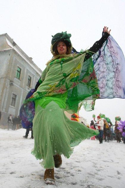ÚNOR. VNovém Boru se konal další ročník Masopustu vduchu karnevalu.