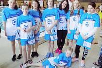 V Náchodě vybojoval osmičlenný tým českolipského PK velmi pěkné 5. místo v konkurenci z celkově 21 plaveckých oddílů.