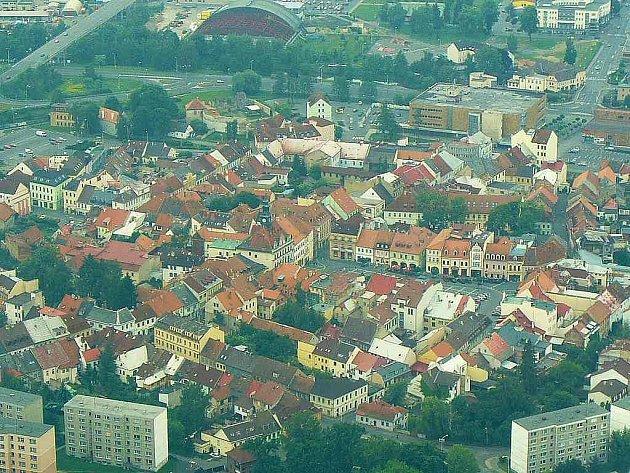Česká Lípa - letecký pohled.