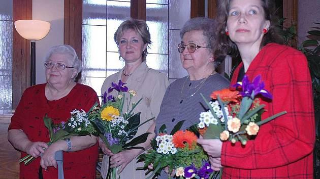 Ocenění převzaly Vlasta Mikešová, Jarmila Demlová, Taťána Hylmarová a v neposlední řadě pedagožka Danuše Šuková.