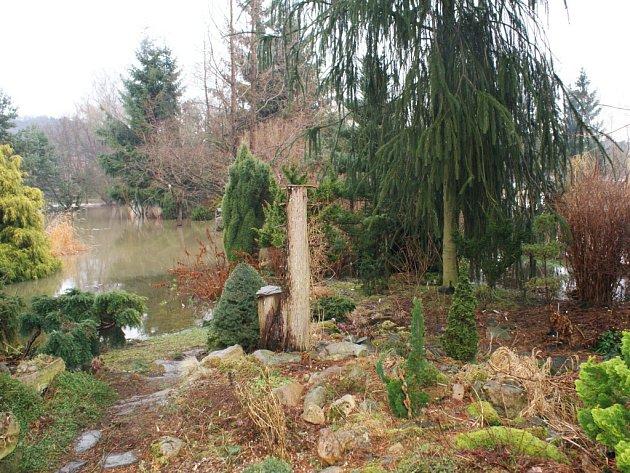 Zahrada Surovcových ve Stružnici působila úchvatným dojmem, ikdyž byla zvětší části zatopená.