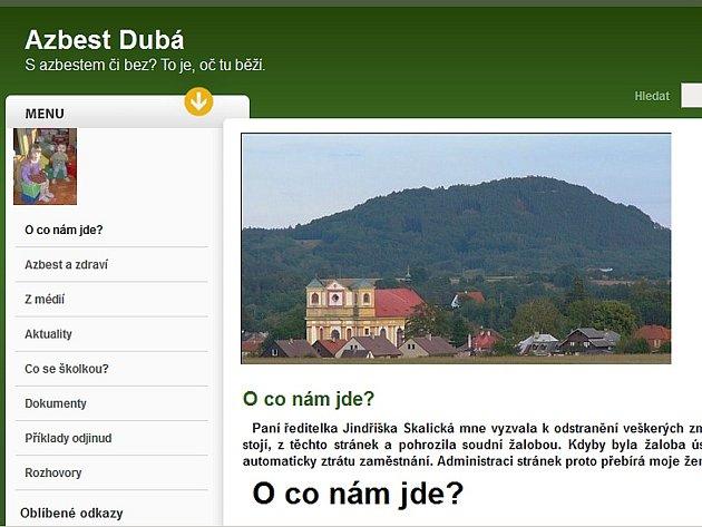 Dobré jméno školy v Dubé podle její ředitelky poškodil Filip Tesař na svém webu.