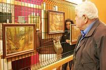 Antonín Malich vystavuje své krajiny v Kravařích.