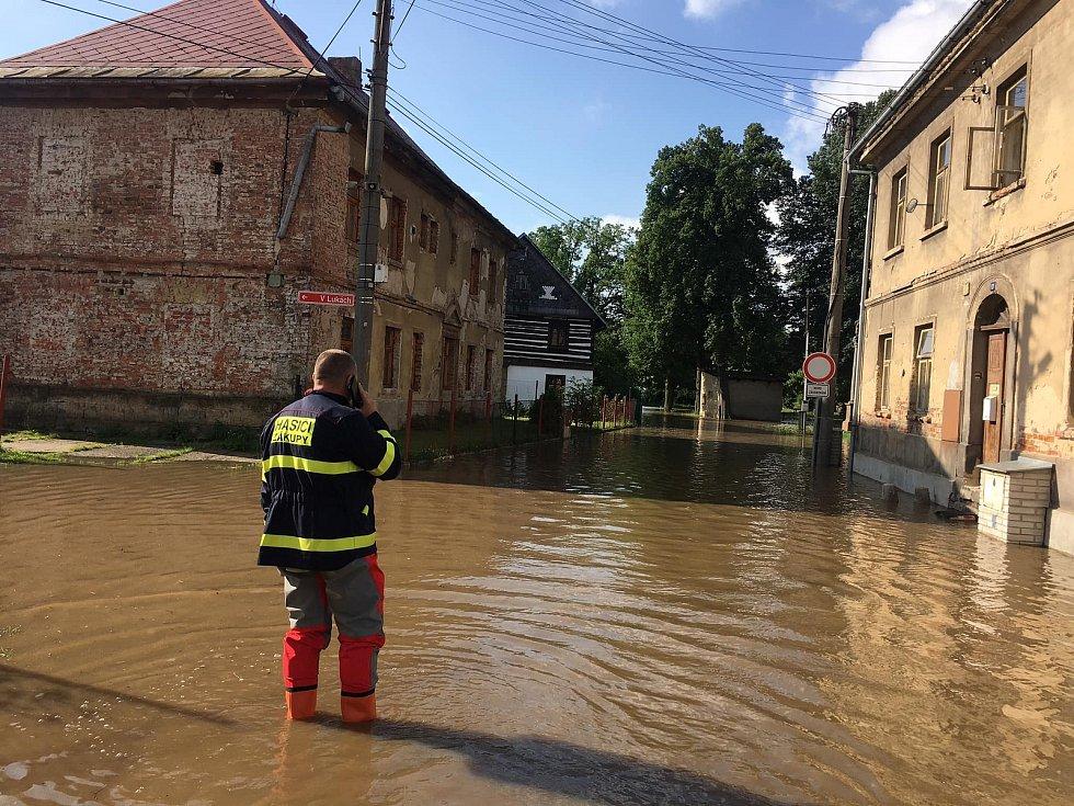 Povodně na Českolipsku.