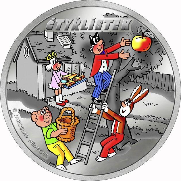 Čtyřlístek má svou minci.