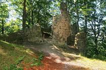 NA VRCHOLU kopce Děvín u Hamru na Jezeře stojí zřícenina královského hradu Přemyslovců ze 13. století, vypáleného v roce 1645 Švédy.