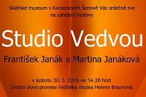 Janákovi se vracejí do Šenova s výstavou Studio Vedvou.