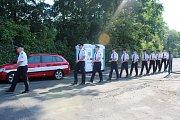 Dočasná hasičská stanice v Doksech se slavnostně otevřela u příležitosti zahájení plného provozu.