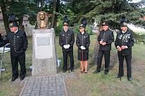Odhalení busty strážského rodáka, hudebního skladatele Ignáce Františka Bibera.