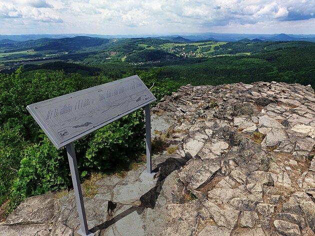 Jarní panoramatický pohled z Klíče.