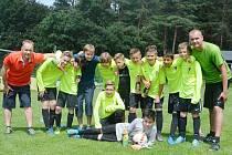 Okresním přeborníkem v soutěži mladších žáků se stala TJ Jiskra Mimoň.