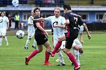 Lomnice - Česká Lípa 2:5 (2:0). Nechanský s Gaubmanem neuhlídali českolipského Müllera a ten snižuje na 1:2.