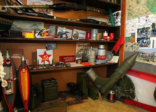 Stálá expozice pyrotechnické asanace Ralska v Kuřivodech.