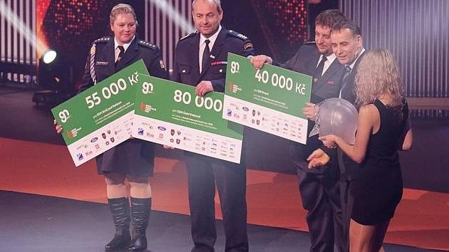 Odměnu 55tisíc korun získali dobrovolní hasiči ze Stráže pod Ralskem, kteří ve východní divizi byli v kategorii hasičský sbor druzí!