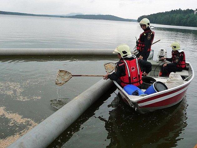 Na výbornou zvládli hasiči z pěti jednotek cvičení na Máchově jezeře.
