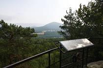 Schillerova vyhlídka na Zeleném vrchu ve Cvikově.