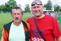 Bývalý trenér Doks Josef Vinš (vlevo), nyní vede Štětí. U týmu od Máchova jezera jej loni nahradil Michael Šimek.