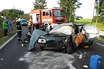 Dvojnásobným těžkým zraněním skončila nehoda motorkáře s autem, která se stala ve čtvrtek ráno u Kravař.